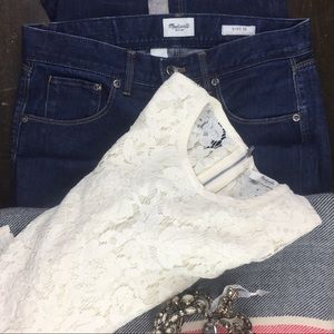 Madewell Straight Leg Jeans Size 28